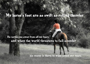 Galloping Thunder Quote Photograph