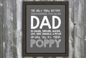 ... Quote - Wall Art - Customizable- Fathers Day Gift- Grandchildren's