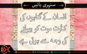 Urdu Quotes ] Insaan Ke Gunahoun Ki Kasrat