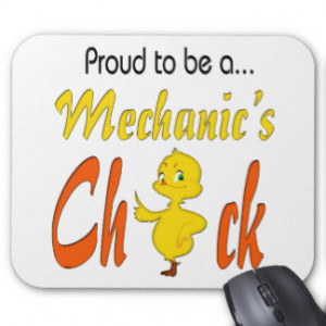 Proud to Be a Mechanic's Chick Auto Mechanic gifts Mouse Pads