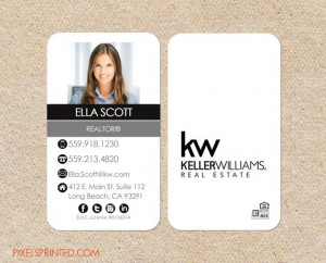 business cards, keller williams business cards: Realtor Business Cards ...
