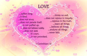 love acts here is the way agape love expresses itself