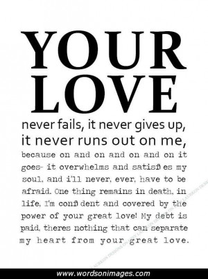 Never give up on love quotes