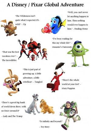 Disney & Pixar Travel Quotes