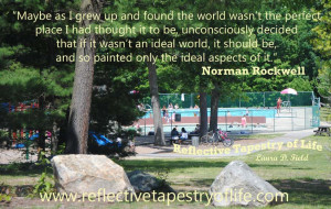 ... Norman Rockwell ~ Picture taken at Rolfe Park, Penacook, NH by Laura D