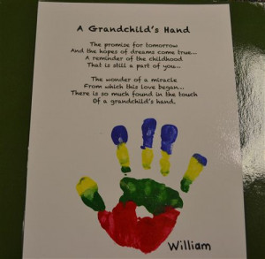 Grandparent Poem By Kinderkicks Edublogs About Grandchild's Hand With ...