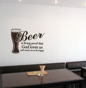 Details about WALL VINYL STICKER DECALS ART MURAL PUB BAR QUOTE PHRASE ...