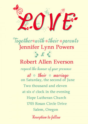 romantic and creative love wedding invitations