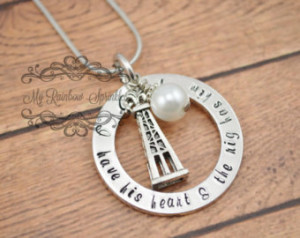 Oilfield Wife/Girlfriend Hand Stamp ed Personalized Necklace ...