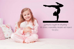 Details about Shawn Johnson Quote Wall Decal | Gymnastic Vinyl Sticker ...