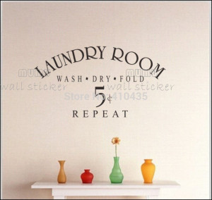 Laundry-room--home-decor-creative-quote-wall-decals-decorative ...