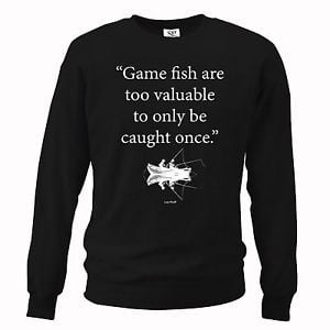 Detalles de Mens Funny Quote Fishing Sweater Salmon Carp Trout Fathers ...