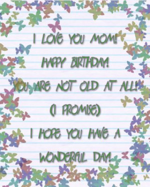 Good Mom Quotes Birthday