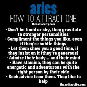 How to attract zodiac Aries.