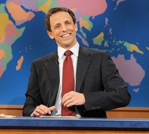 Saturday Night Live Weekend Update anchor Seth Meyers. Courtesy of NBC