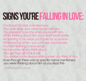 Love Quotes falling in love heart beats faster