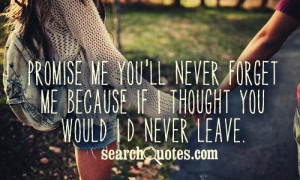 Promise Will Never Leave You Free Quotes