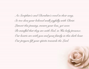 Religious Sympathy Verses and Cards