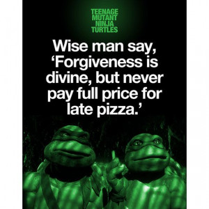 Teenage Mutant Ninja Turtles Quote Poster by WoodPanelBasement 19 99
