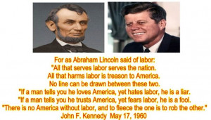 quotes in support of labor unions
