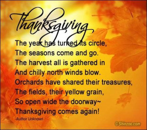 Thanksgiving poems 15