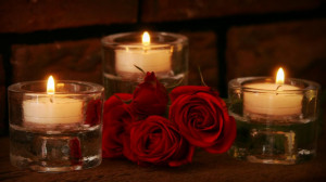 Candlelight Roses Romantic Hd Wallpapers