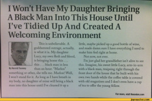 Won't Have My Daughter Bringing A Black Man Into This House Until ...
