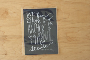 Quote, Courage Quote, Chalkboard, Faith Quote, Bible Quote, Anchor ...