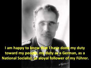 Rudolf Hess at Nürnberg: