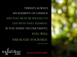 Monday quote element of chance blog post