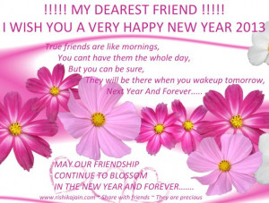 Year 2013 wishes, Quotes, New year greetings for friends, Friendship ...
