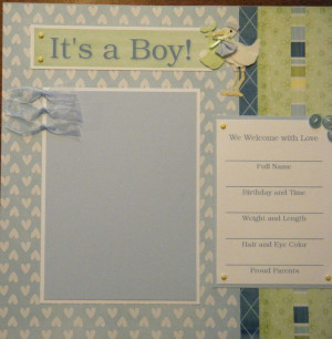 baby scrapbook pages