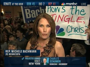 ... Supporter Mocks Chris Matthews With Sign: 'How's The Tingle, Chris