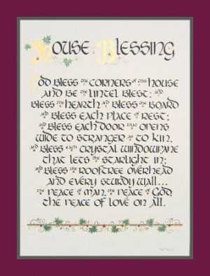 House Blessing (old Irish blessing)