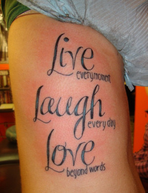 Great Quotes Tattoo Design