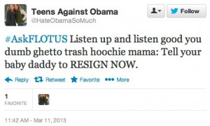 ... Hashtag for Citizens to Tweet Michelle Obama, Swarmed by Hate and Rage