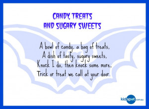 Trick or treat rhymes - 5 Halloween poems to print and recite on this ...