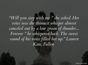 Fallen - Lauren Kate Quote