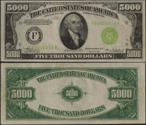 old us paper money value