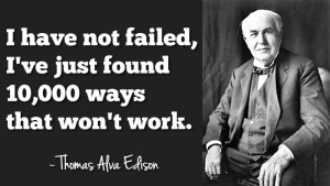 Failing isn't fun either, but rather painful. It takes focus, hard ...