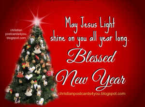 Christian New Year Quotes Card with christian message
