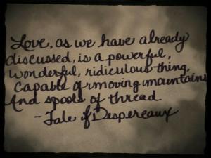 Kate DiCamillo's Tale of Despereaux