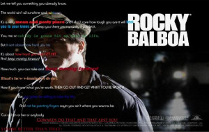 Rocky Quote From Rocky Balboa (Rocky 6) (2006); inspiring quotes, let ...