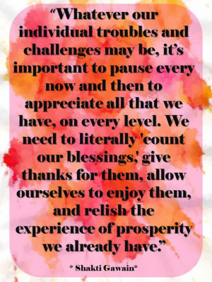 Whatever our individual troubles and challenges may be.
