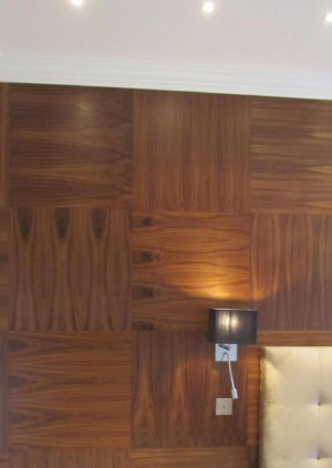 walnut wall panels