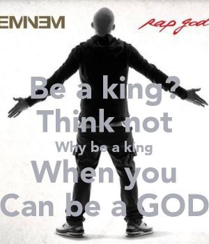 Eminem's quote 'Rap God