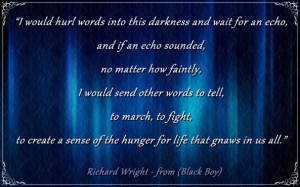 Richard Wright - from the book 'Black Boy'