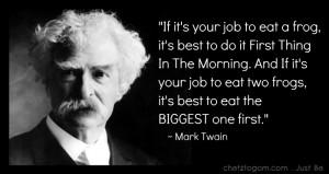 Mark Twain Frog quote