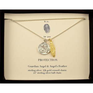 PROTECTION, Guardian Angel & Angel Feather, Inspirational Quote ...