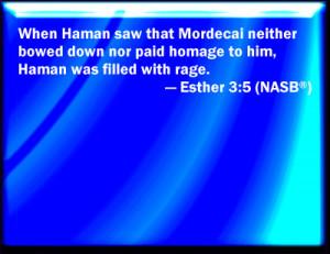 Esther 3:5 Bible Verse Slides